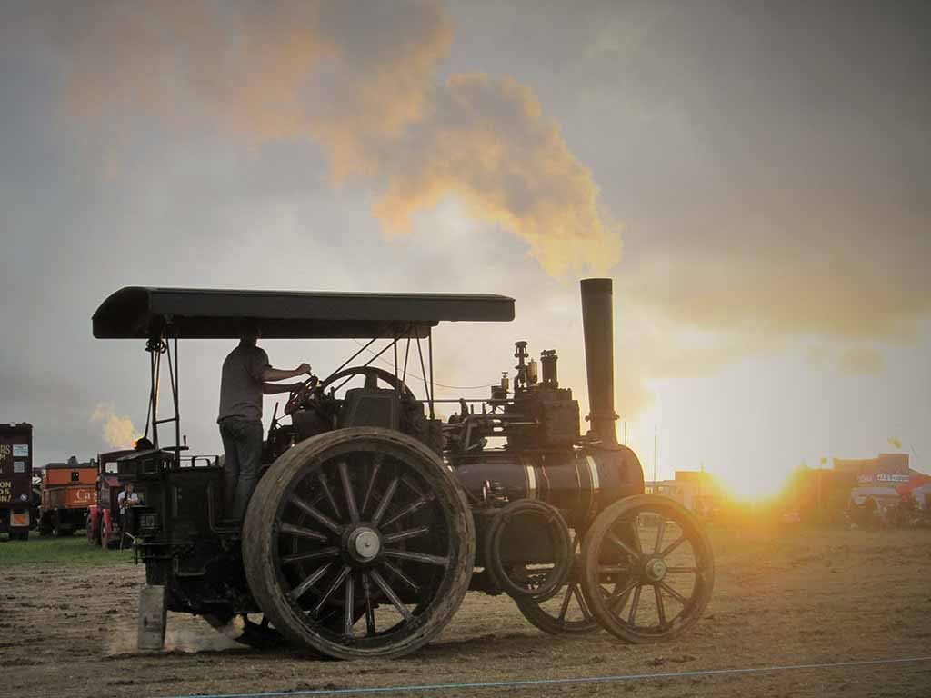 Sunset at the Great Dorset Steam Fair